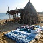 Sleeping on the beach next to the 'honeymoon hut'