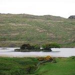 An iron age crannog (artificial island) just behind Fair Head