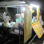 The pancake and fruit shake stall
