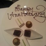Special petit fours for our wedding anniversary