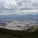 Quito City view from the nearby mountain.