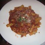 Rigatoni Bolognese awful looks nice tastes terrible do not eat.