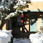 Winter in Santa Fe is romantic, beautiful and cozy warm in our two foot thick adobe guest rooms.