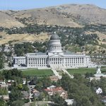 View of Utah State Capitol Building from Church Office Building