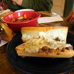 Philly Cheese Po'Boy
