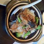 Honeyed chilli chicken rice pot