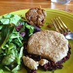 Thanksgiving - their veggie burger with gravy