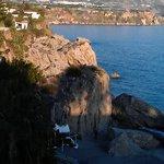 View of beach from Balcon de Europa