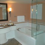 Bathroom with Separate Bath and Glass Shower
