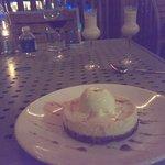 Cheesecake volcano