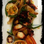 Char grilled Spanish octopus salad