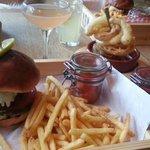 Steak & cheese burger. Definitely order onion rings!