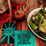 Mexican beers and delicious salads