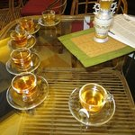 Tea tasting at Golden Tips
