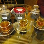 Samples of loose tea