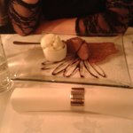 Chocolate mousse with ice cream