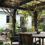 garden patio to cottage