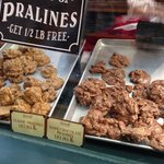 Pralines at Savannah Candy Kitchen are a must to try! They make them in house and give samples