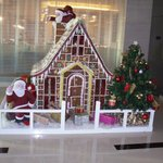 Gingerbread house in the foyer