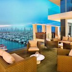 Mediterranean and marina view at The Ritz-Carlton, Herzliya