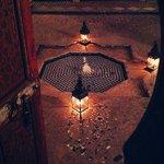 Athmosphäre im Kerzenlicht abends