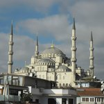 View of Blue Mosque from sister hotels roof terrace