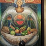 An image of mother earth, bearing fruits/provision