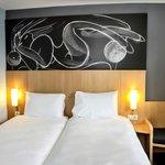 Chambre double avec deux lits séparés