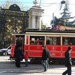 Tram outside Gezi Park