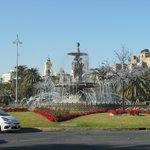 fontanna na trasie przejazdu