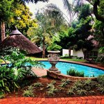 View of the pool at Sandton Boutique Hotel