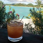 our welcome rum punch w/ our first view of the hotel