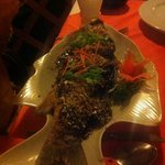 whole fish /w garlic and black pepper