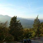 Vista della Valmarecchia dalla camera