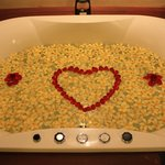 the bathtub when we arrived :-)