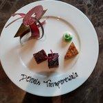 Welcome chocolate plate