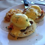 Surf and Turf eggs Benedict