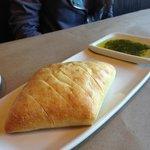 Bread and pesto dip