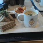 RY Britannia platter...note the cuppa soup mug appearance - but did taste superb
