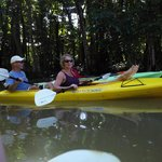 Double kayak with friends