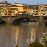 View of the Ponte Vecchio bridge from hotel bar