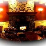 Enjoy our fireplace in our lounge