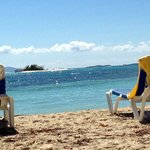 View from the beach at Palamino Island