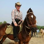 "Me on my horse ""Rama"""