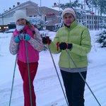 Лесная лыжня начинается у входа в отель Scandic