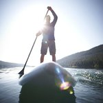 Paddleboarding on Donner Lake