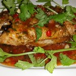 Deep fried fish with chilli souce.