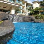 Waterfalls in the pool!