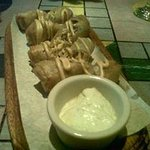 This is a must have when you vist. Jerked Chicken Spring Rolls