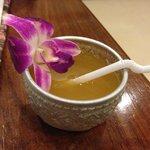 papaya tea upon arrival